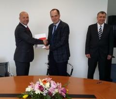 Damir Novinić, Sergiy Yevtushenko i veleposlanik Ukrajine u RH